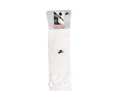Bow Socks white knee high bow socks whittakers school wear