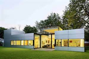 single story houses modern single story cubical house with a metal facade in