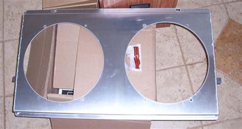 aluminum fan shroud fabrication dual 14 quot aluminum fan shroud 1 8 material