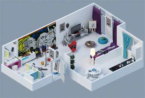 3d apartment design apartment designs shown with rendered 3d floor plans