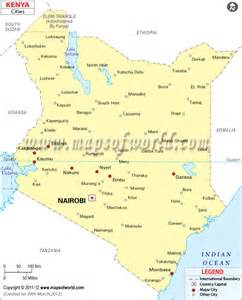 map with all cities and towns kenya cities map cities in kenya