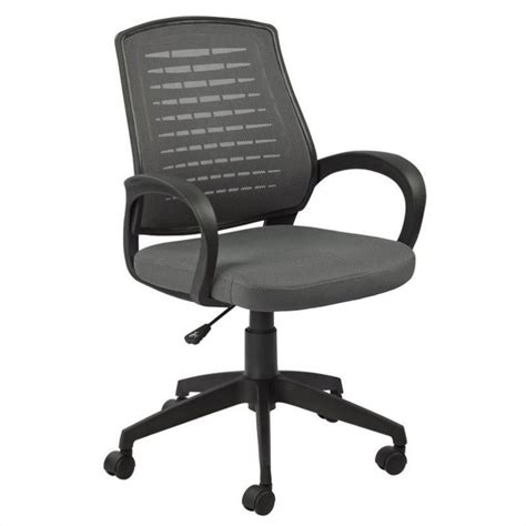 Office Chairs Gray Leick Furniture Mesh Vented Back Office Chair In A Gray