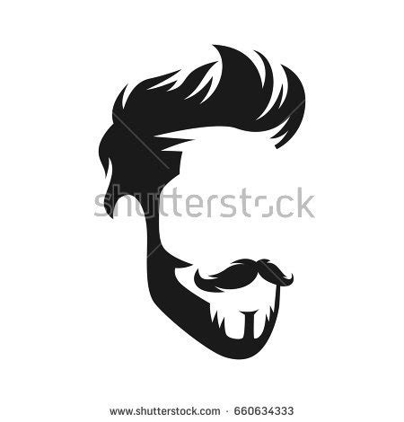 Hairstyle Tools Designs For Silhouette by Vector Vintage Hairstyle Barber Shop Logo Stock Vector