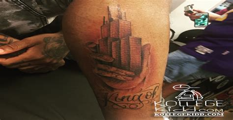 lil durk tattoos lil durk proclaims himself king of chicago with new tat