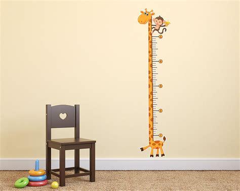 growth charts for rooms giraffe growth chart wall decal giraffe nursery baby room baby boy rooms