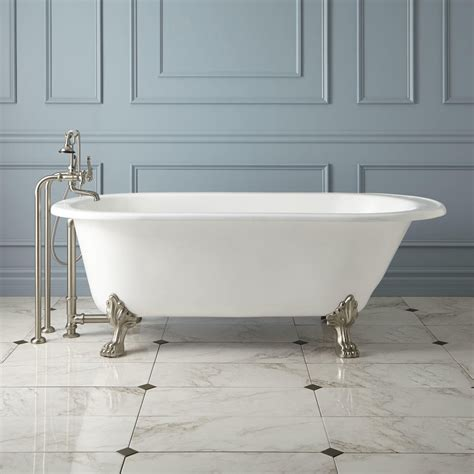 cast bathtub 68 quot hofburg cast iron clawfoot tub cast iron tubs bathtubs bathroom