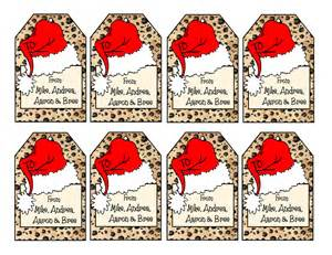 printable personalized leopard print christmas gift tags