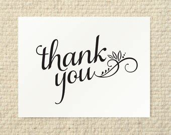 diy wedding thank you cards templates diy thank you card cherish script printable pdf