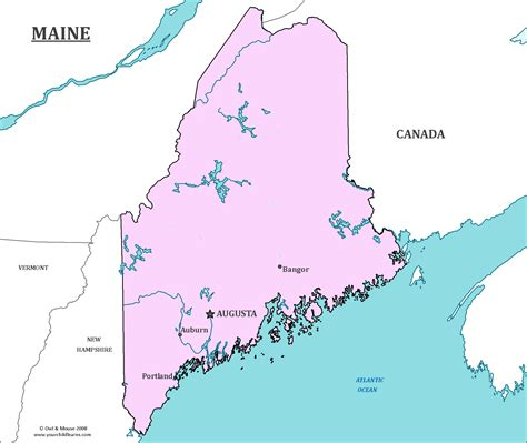 maine state usa map maine state map map of maine and information about the state