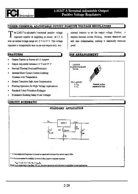 transistor lm317 datasheet lm317 4103489 pdf datasheet ic on line