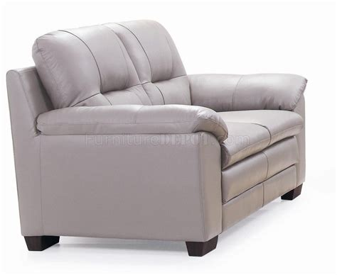 light grey loveseat emma 435003 sofa loveseat in light grey leather by new spec