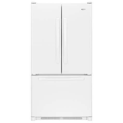 Bottom Freezer Drawer Refrigerator by Amana 24 8 Cu Ft Door Bottom Freezer Refrigerator W Pull Out Drawer Aff2534fe