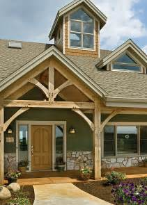 a frame style house the melody timber frame home front entrance flickr