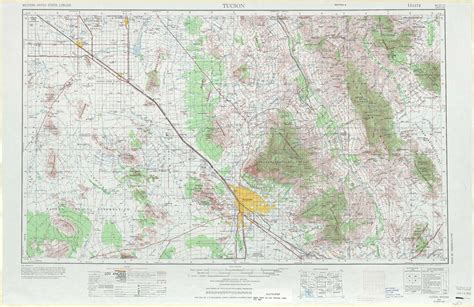 arizona topographical map tucson topographic maps az usgs topo 32110a1 at 1