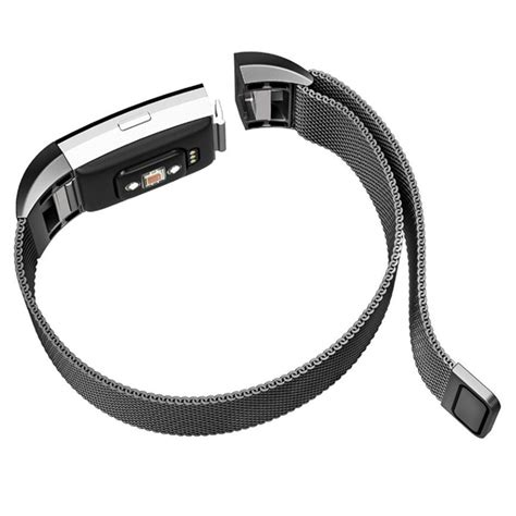 Milanese Stainless Steel Magnetic For Fitbit Charg 95koou Black milanese stainless steel magnetic for fitbit charge