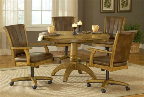 Hillsdale Grand Bay Round Dining Set With Caster Chair Caster Chairs Dining Set