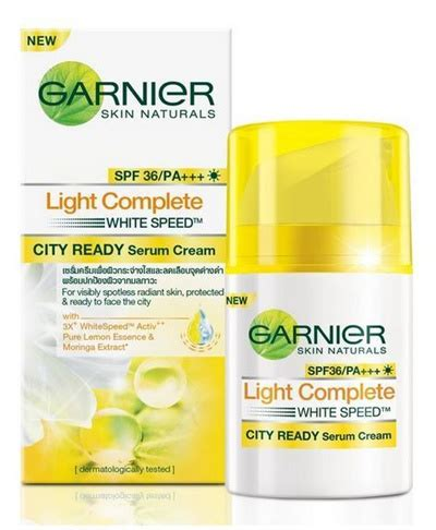 Garnier Light Complete White Serum qoo10 50ml garnier light complete white speed city ready