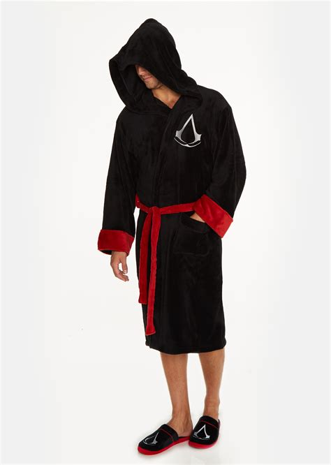 assasins creed robes assassin s creed assassin black fleece bathrobe