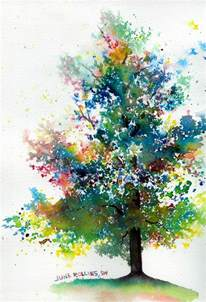 water color trees the triad tree june rollins
