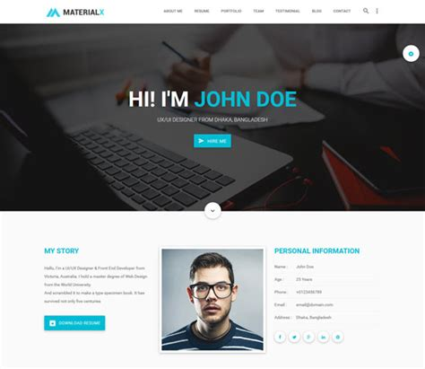html templates for personal profile 40 best personal website templates free premium