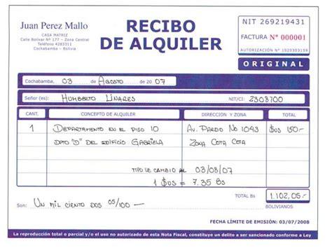 recibos alquiler local 2016 impuestos por alquileres en bolivia bolivia impuestos blog
