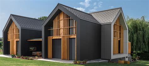 All Black House Design Of Three Gabled Volumes   DigsDigs