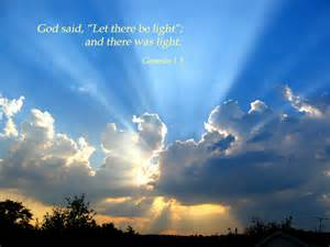 genesis1 3 poster quot god said let there be light and