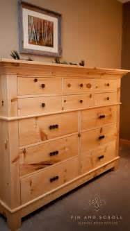 Dresser Sets For Bedroom Rustic Pine Bedroom Set Large Knotty Pine Dresser 02