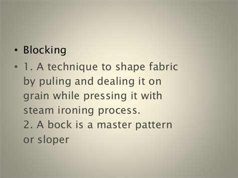 Garment Draping Terminology