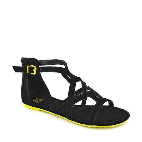 shiekh sandals shiekh 058 womens black with yellow gladiator sandal