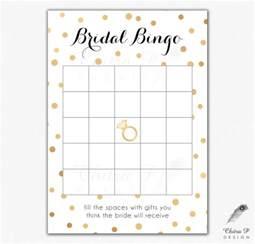 bridal shower bingo templates black gold bridal shower bingo cards printed or printable
