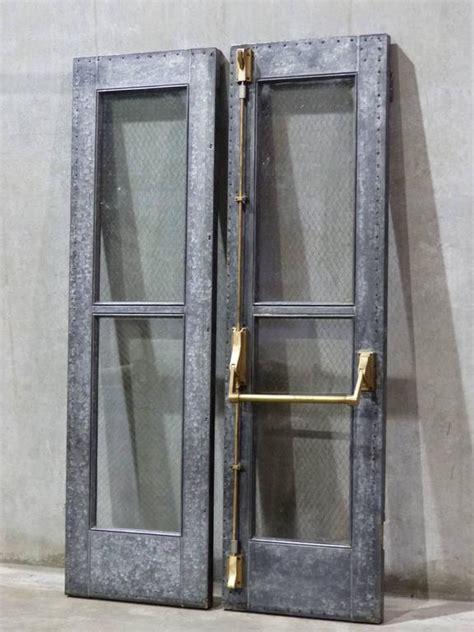 Steel Chicken Wire Glass Doors At 1stdibs Wired Glass In Doors