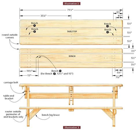 free blueprints pdf diy unique picnic table plans download wall mounted