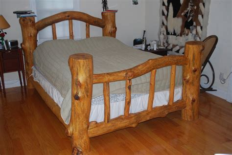 how to make a log bed pondarosa pine log bed by brent livingwell lumberjocks