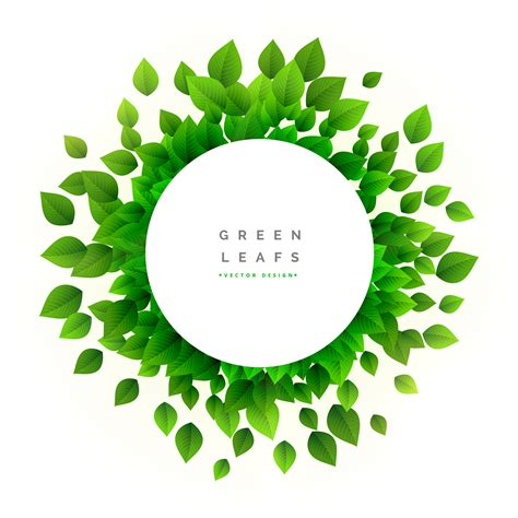 Green Leaves Eco Nature Background Download Free Vector Art Stock Graphics Images Green Eco Tree Vector Free