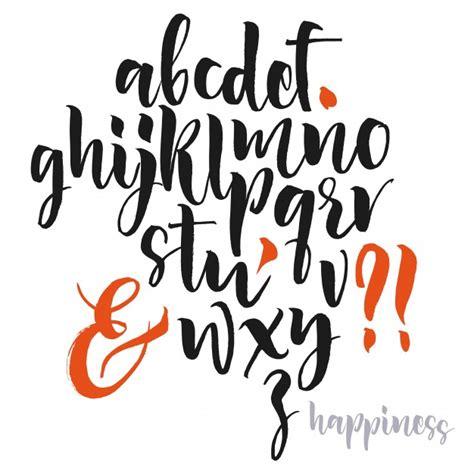 cursive letters font handwritten script font brush font uppercase numbers 1175