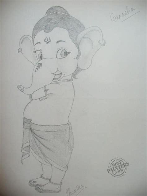 Ganesh Ji Sketches by Pencil Sketch Of Ganesha Drawing Sketch Library