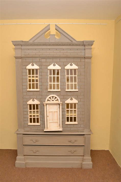 dolls house wardrobe vintage english dolls house wardrobe shabby chic ref no 03799