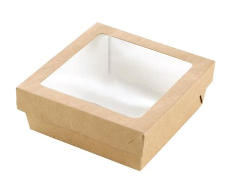paper box with window packnwood 210krayb155 kray brown paper box with window lid