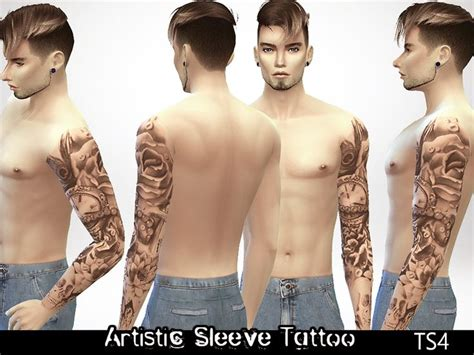 sims 4 tattoos sleeve artistic in details i you like it