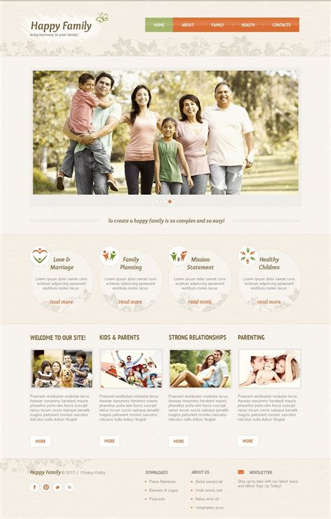 spa website inspiration family moto cms html template 42945