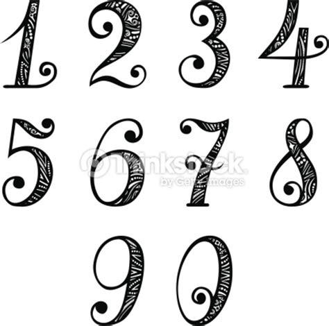 fancy printable numbers 1 10 ensemble de vintage chiffres clipart vectoriel thinkstock