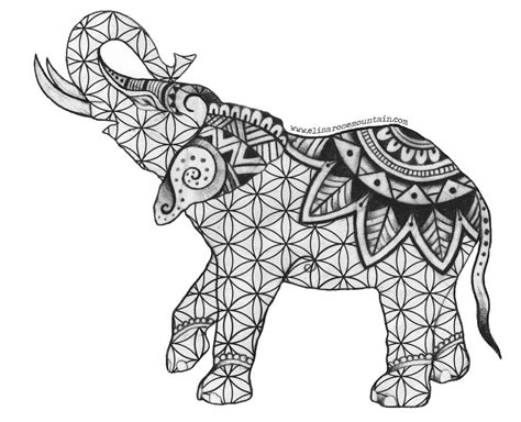 indian elephant coloring page amazing elephant coloring pages