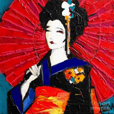 the gallery for gt geisha painting