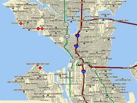 seattle map pdf map of seattle wa map travel holidaymapq