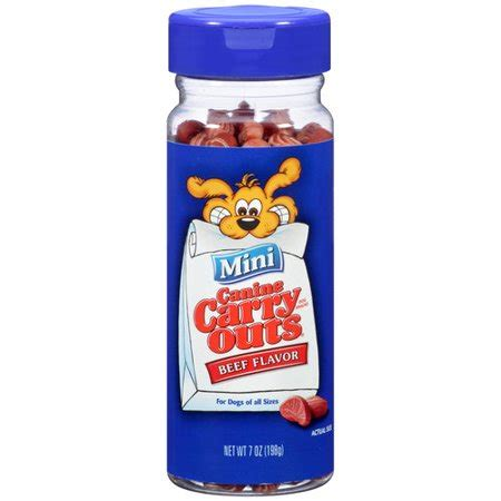 canine carry outs treats canine carry outs mini beef flavor snacks 7 oz