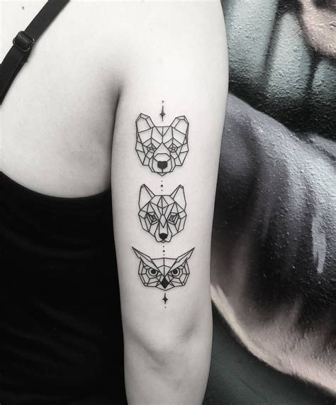 geometric tattoos animals see this instagram photo by thomasetattoos 5 707 likes