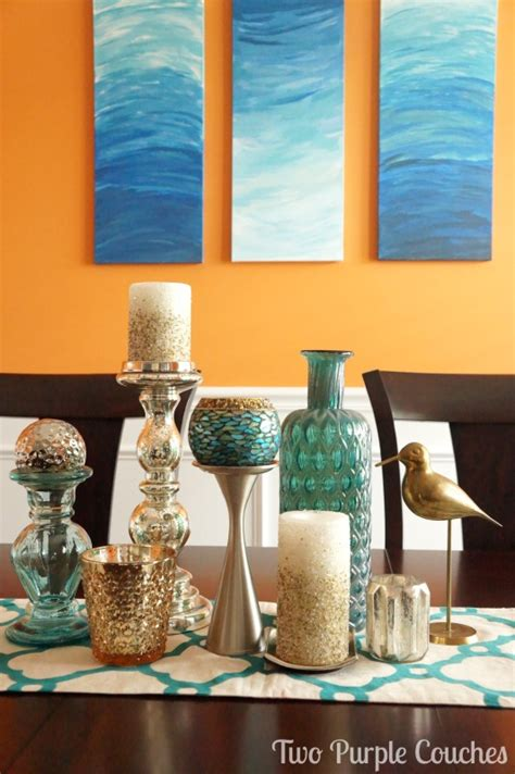 Decorating With Teal And Orange by Dining Room Decor Colors Teal And Teal Colors