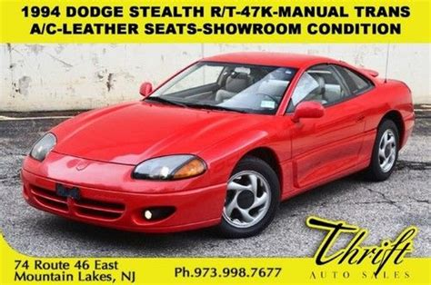 how cars run 1994 dodge stealth auto manual find used 1994 dodge stealth r t 47k manual trans a c leather seats showroom condition in