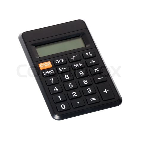 small digital small digital calculator isolated on white stock photo